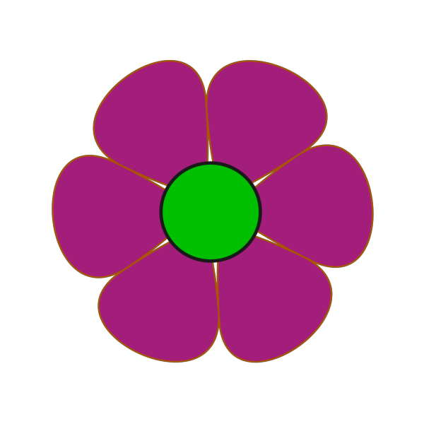 Dark Pink Flower PNG Clip art