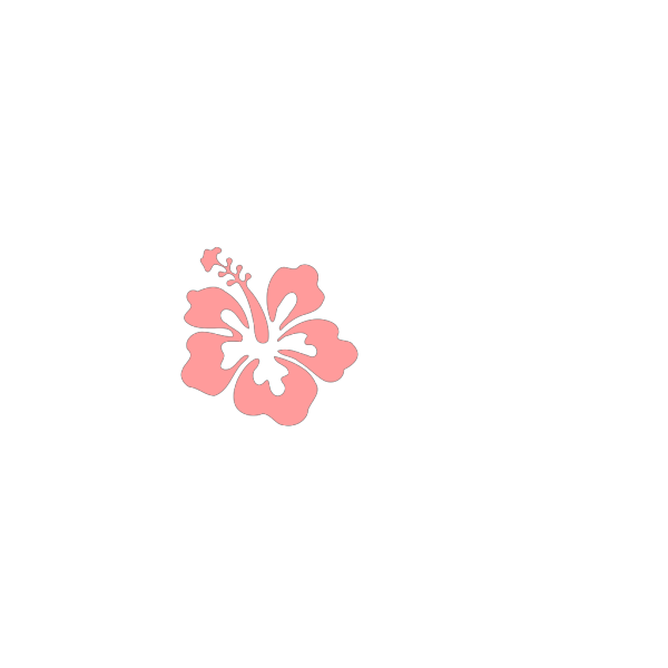 Hibiscus Pink Green PNG Clip art
