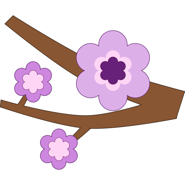 Purple Flower 16 PNG Clip art