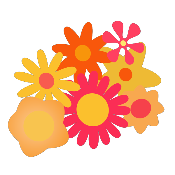 Flower Cluster PNG Clip art