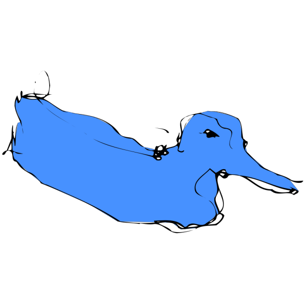 Simple Blue Duck Sketch PNG images