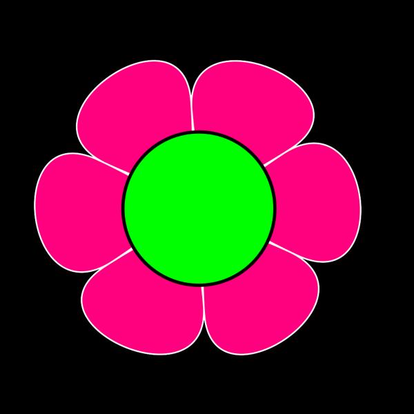 1 Pink Green Flower PNG Clip art