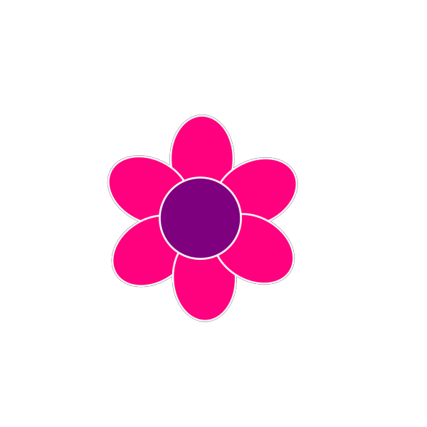 Pink Flower With Black Background PNG Clip art