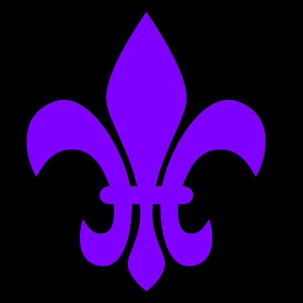 Purple Fleur PNG Clip art