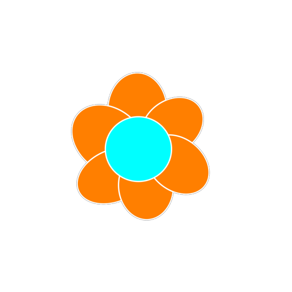 Orange Flower PNG Clip art