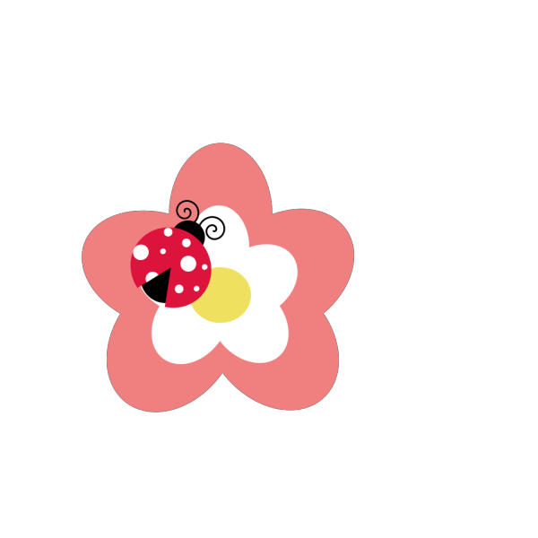 Flower With Ladybug PNG Clip art