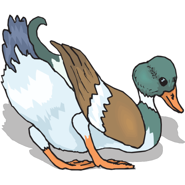 Leaning Duck PNG Clip art
