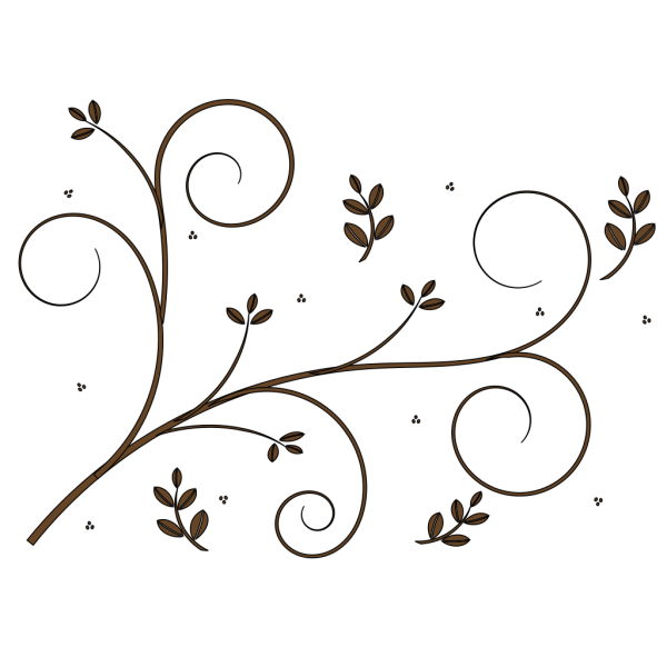 Kate Floral Border PNG clipart