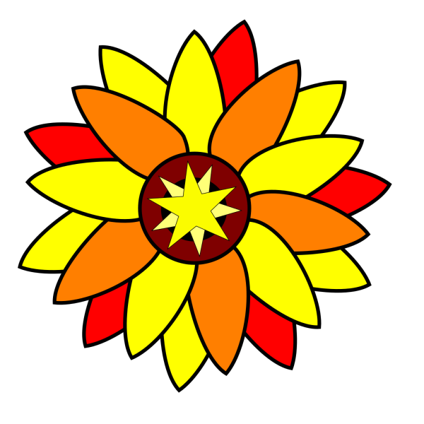 Sunflower Star Tatto PNG Clip art