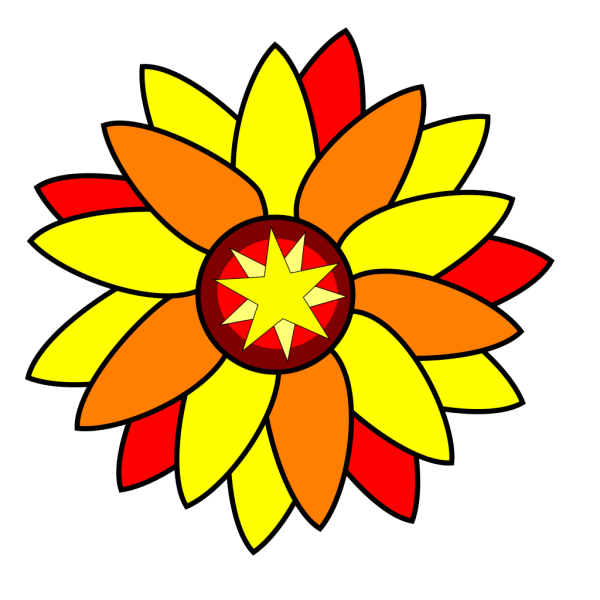 Sunflower Star Tatto PNG clipart