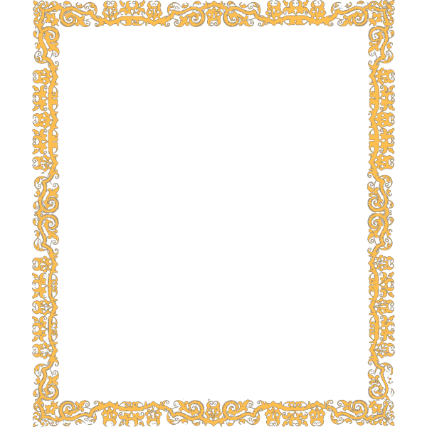 Gold Cool Border PNG clipart