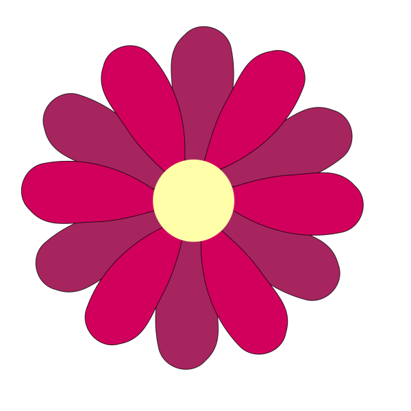 Cute Flower Pink PNG Clip art