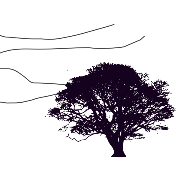 Purple Tree Resized PNG Clip art