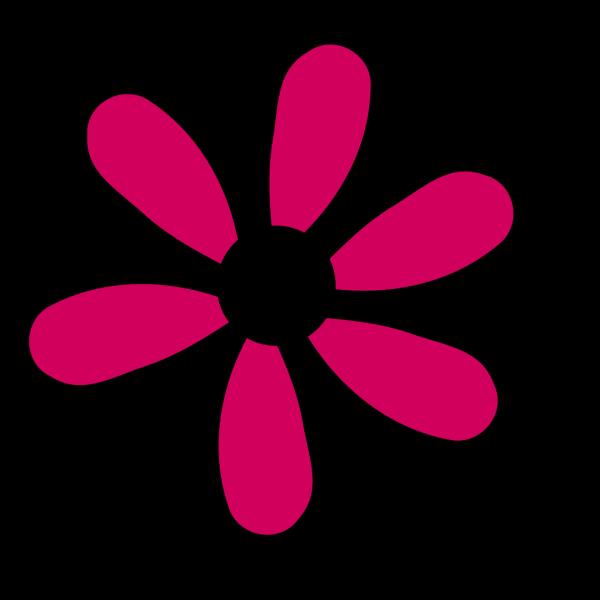 Pink Flower 6 Petals PNG Clip art