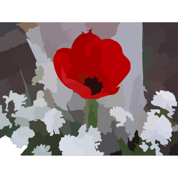 Blurred Flower Photo PNG Clip art