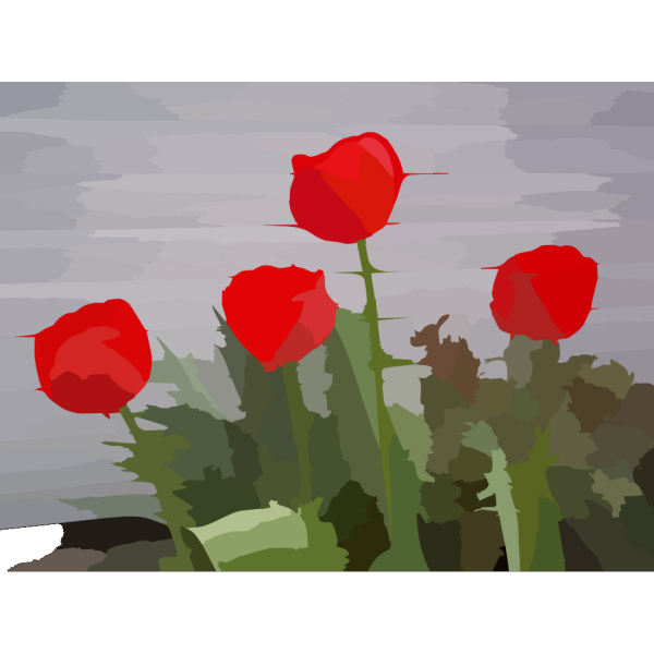 Blurred Tulips Photo PNG Clip art