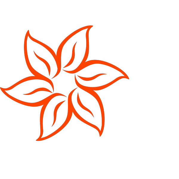 Dark Orange Flower PNG Clip art