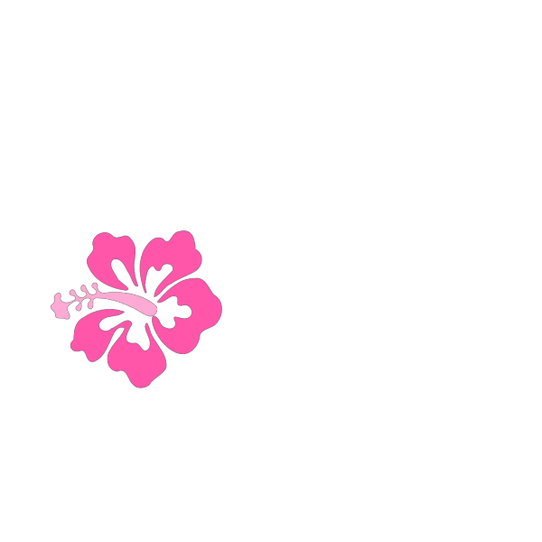 Pink Hibiscus Flower Revised PNG Clip art