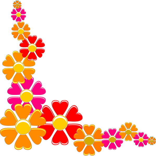 Orange-red Flower PNG Clip art
