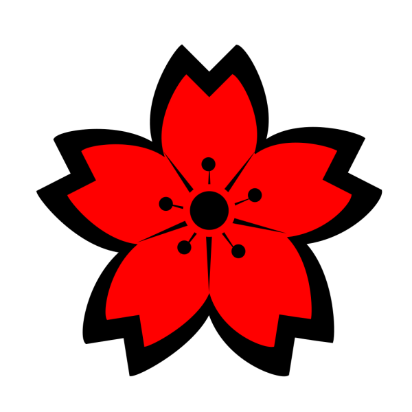 Black Sakura PNG Clip art