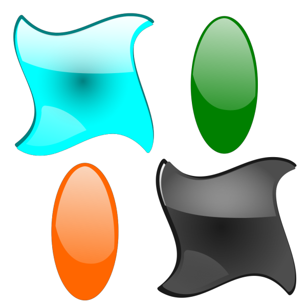 Glossy Shapes 2 PNG Clip art