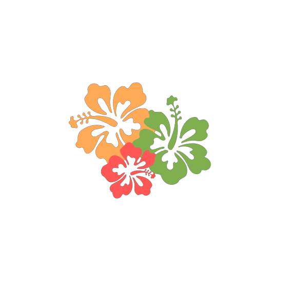 Hibiscus Pink Yellow PNG Clip art