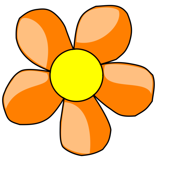 Orange Daisy PNG Clip art