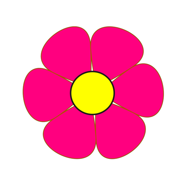 Pink And Yellow Flower PNG Clip art