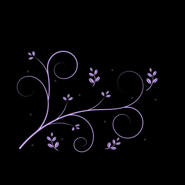 Purple Decorative Vine PNG Clip art