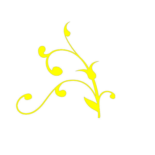 Yellow Swirl Thing K PNG Clip art