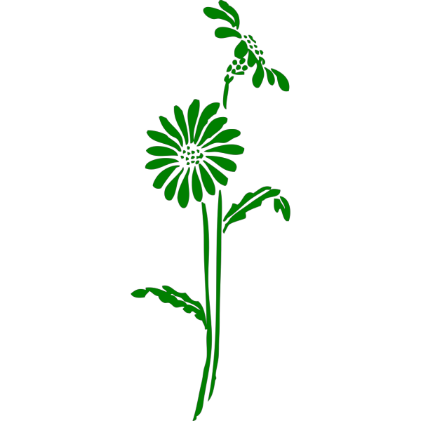 Green Flowers PNG clipart