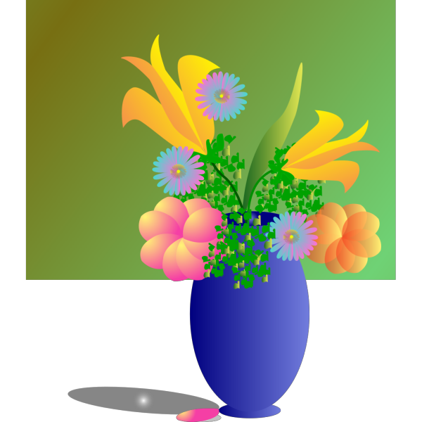 A Vase Of Flowers PNG Clip art