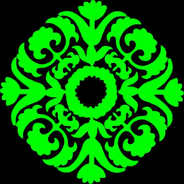 Green Flourish PNG Clip art