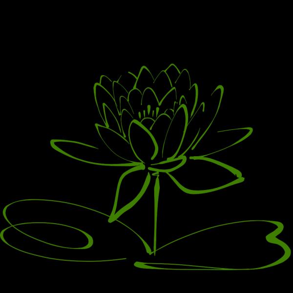 Green Lotus PNG Clip art