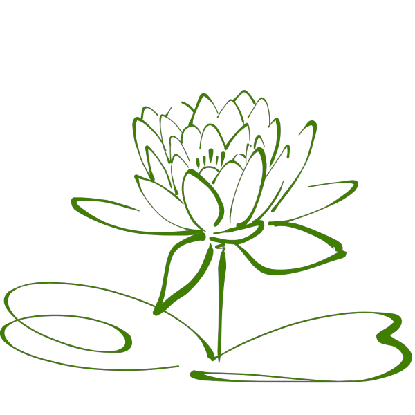 Green Lotus Translucent PNG Clip art