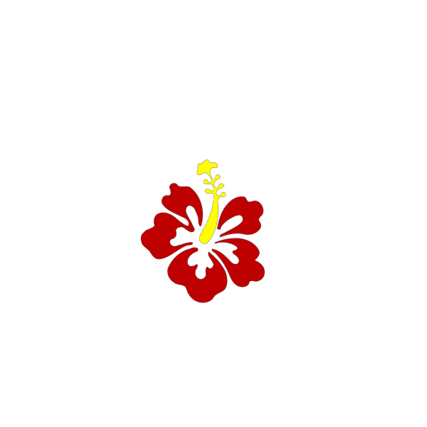 One Hibiscus Clipped Art PNG Clip art