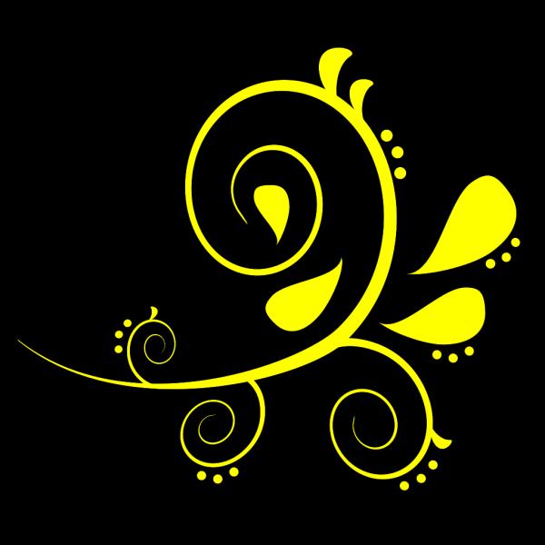 Yellow Flourish PNG Clip art