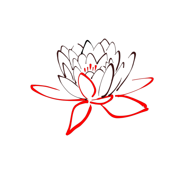 Red Lotus Clipart PNG Clip art