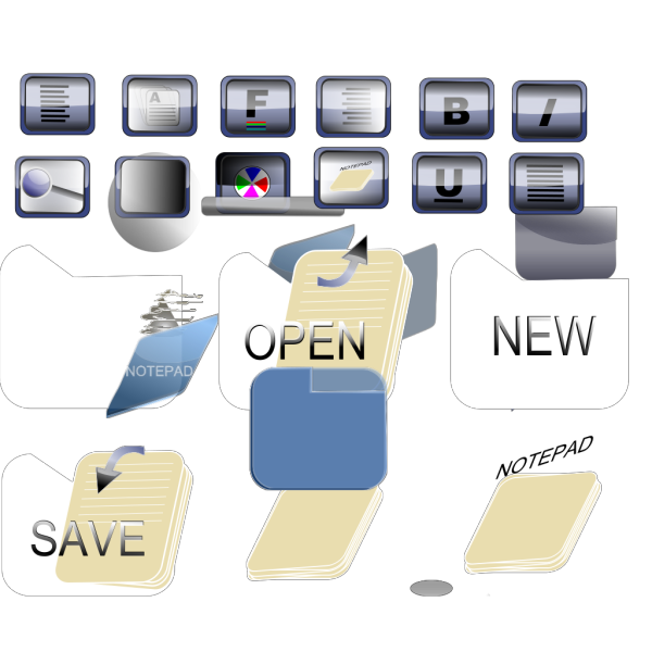 Bkue Folder Icons PNG Clip art