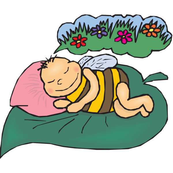 Dreaming Bee PNG clipart