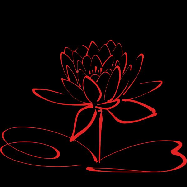 Red Lotus2 PNG Clip art