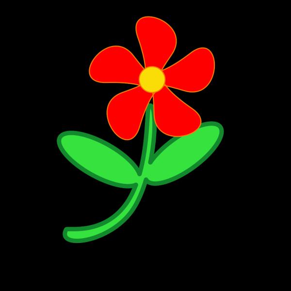Red Flower Cute PNG Clip art