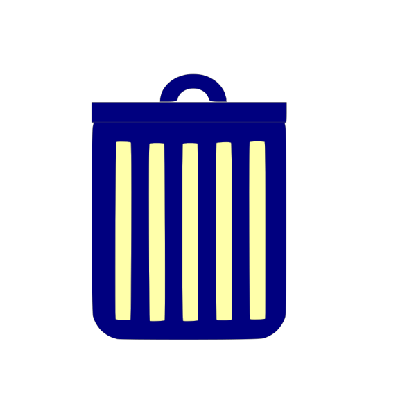 Blue Trash Can PNG images