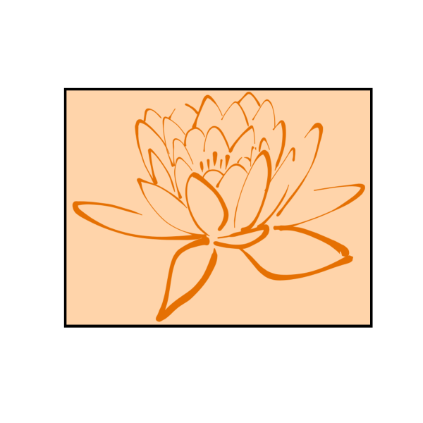 Orange Lotus On Orange PNG Clip art