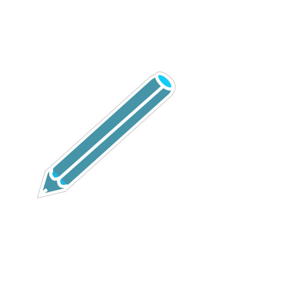 Pencil In Blue And White PNG Clip art