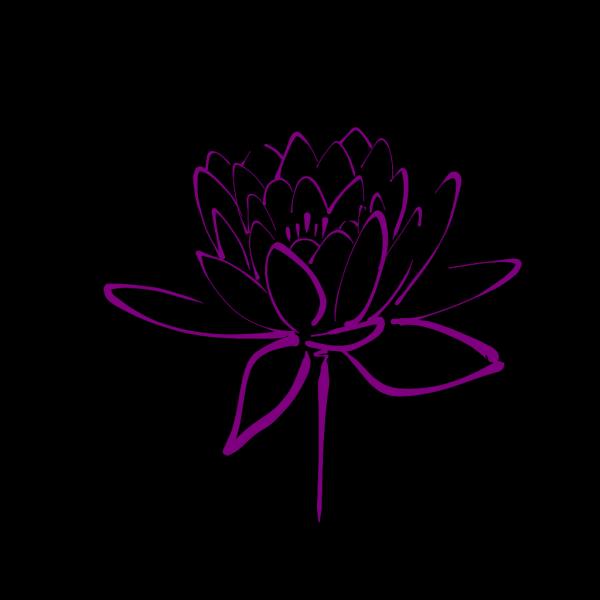 Purplelotus PNG Clip art