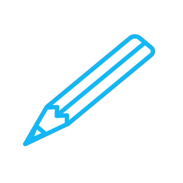 Pencil Blue White PNG Clip art