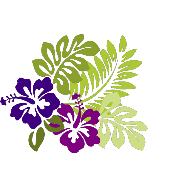 Hibiscus Purple PNG Clip art