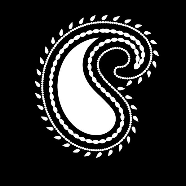 Whitepaisleynew1 PNG Clip art