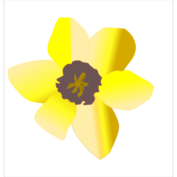 Daffodil (stripped) PNG Clip art